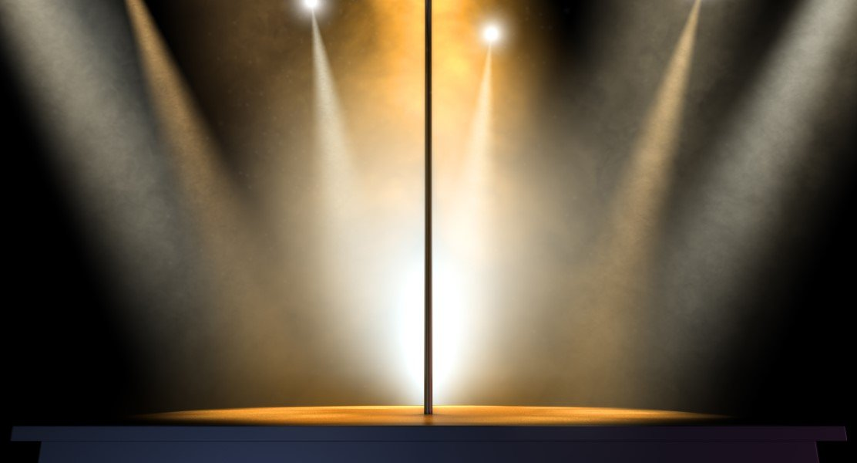 Stripper Pole Spotlit